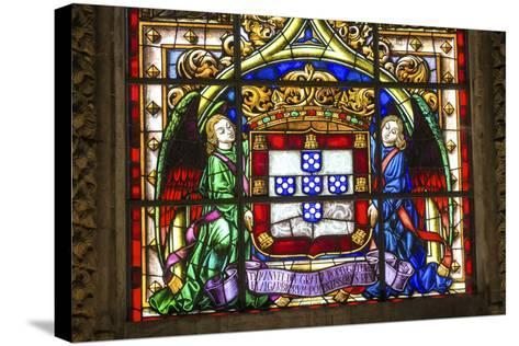 Stained Glass Window, Jeronimos Monastery, Lisbon, Portugal-Jim Engelbrecht-Stretched Canvas Print