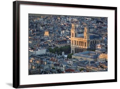 Eglise Saint Sulpice and the Buildings of Paris, France-Brian Jannsen-Framed Art Print
