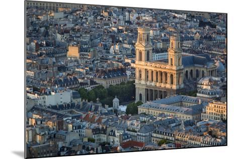 Eglise Saint Sulpice and the Buildings of Paris, France-Brian Jannsen-Mounted Photographic Print