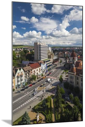 Romania, Transylvania, Targu Mures, View Toward Piata Victoriei Square-Walter Bibikow-Mounted Photographic Print