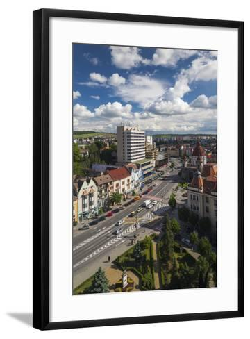 Romania, Transylvania, Targu Mures, View Toward Piata Victoriei Square-Walter Bibikow-Framed Art Print
