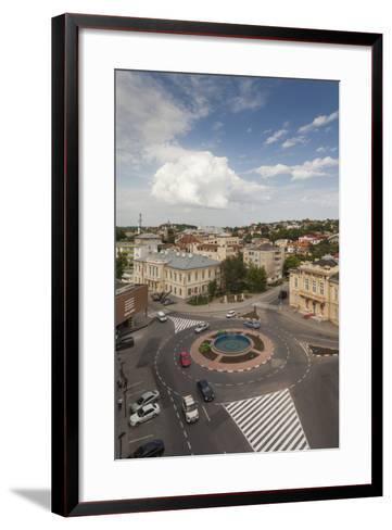 Romania, Danube River Delta, Tulcea, Elevated City View-Walter Bibikow-Framed Art Print