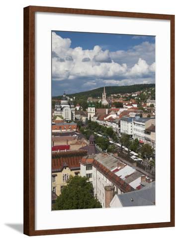 Romania, Transylvania, Targu Mures, View of Piata Trandafirilor Square-Walter Bibikow-Framed Art Print