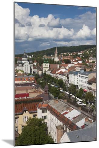 Romania, Transylvania, Targu Mures, View of Piata Trandafirilor Square-Walter Bibikow-Mounted Photographic Print