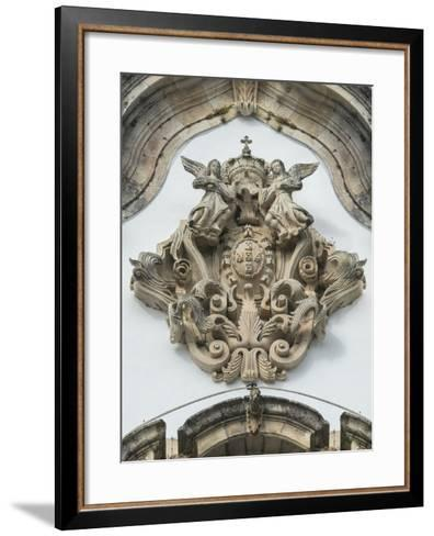 Lamego, Portugal, Shrine of Our Lady of Remedies, Relief Sculpture-Jim Engelbrecht-Framed Art Print