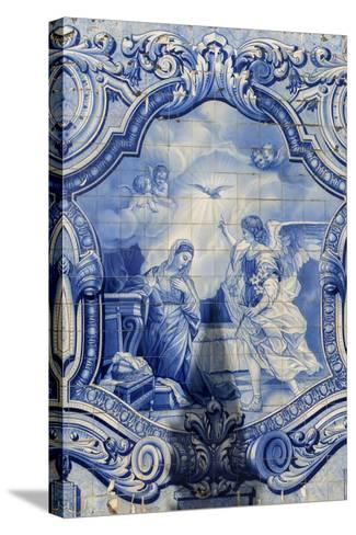 Lamego, Portugal, Shrine of Our Lady of Remedies, Azulejo-Jim Engelbrecht-Stretched Canvas Print