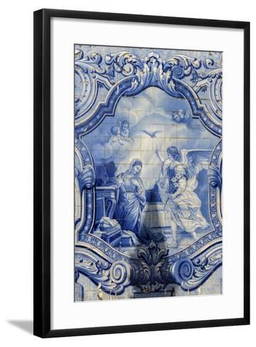 Lamego, Portugal, Shrine of Our Lady of Remedies, Azulejo-Jim Engelbrecht-Framed Art Print
