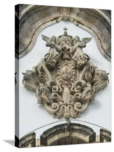 Lamego, Portugal, Shrine of Our Lady of Remedies, Relief Sculpture-Jim Engelbrecht-Stretched Canvas Print