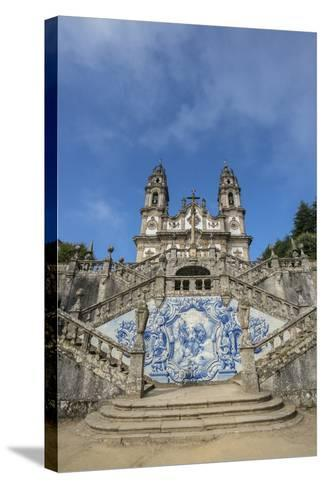 Lamego, Portugal, Shrine of Our Lady of Remedies Exterior Steps-Jim Engelbrecht-Stretched Canvas Print