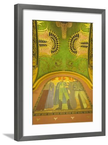 Romania, Transylvania, Targu Mures, Culture Palace Building-Walter Bibikow-Framed Art Print