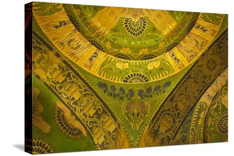 Romania, Transylvania, Targu Mures, Culture Palace Building-Walter Bibikow-Stretched Canvas Print