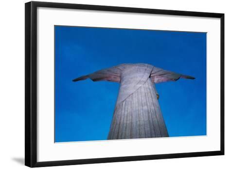 Statue of Christ the Redeemer on Corcovado, Rio de Janeiro, Brazil-Keren Su-Framed Art Print