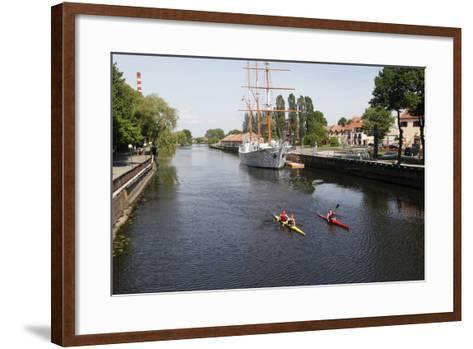 The Canals of Klaipeda, Lithuania-Dennis Brack-Framed Art Print