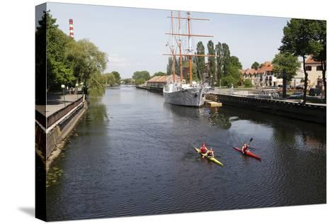 The Canals of Klaipeda, Lithuania-Dennis Brack-Stretched Canvas Print