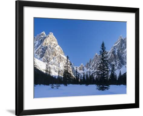 The Sexten Sundial, Valley Fischleintal, Sexten Dolomites, Italy-Martin Zwick-Framed Art Print