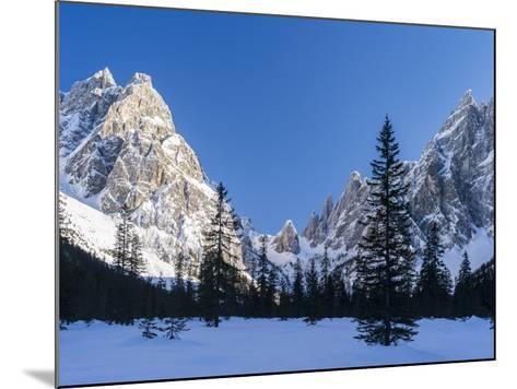 The Sexten Sundial, Valley Fischleintal, Sexten Dolomites, Italy-Martin Zwick-Mounted Photographic Print