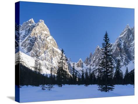 The Sexten Sundial, Valley Fischleintal, Sexten Dolomites, Italy-Martin Zwick-Stretched Canvas Print