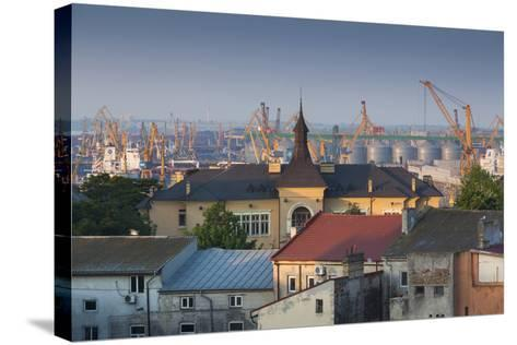 Romania, Black Sea Coast, Constanta, View of the Constanta Port, Dawn-Walter Bibikow-Stretched Canvas Print