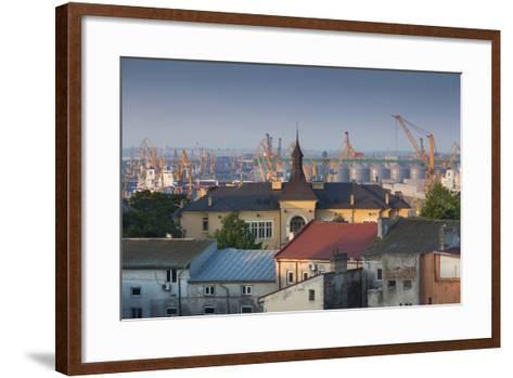 Romania, Black Sea Coast, Constanta, View of the Constanta Port, Dawn-Walter Bibikow-Framed Art Print