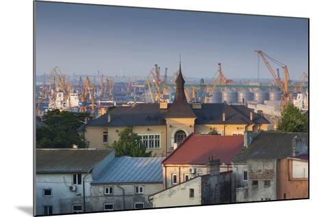 Romania, Black Sea Coast, Constanta, View of the Constanta Port, Dawn-Walter Bibikow-Mounted Photographic Print