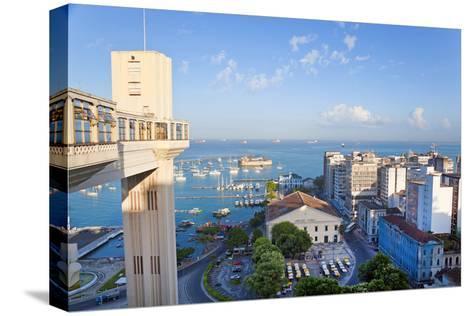 The Elevador Lacerda, Pelourinho, Salvador, Bahia, Brazil-Peter Adams-Stretched Canvas Print
