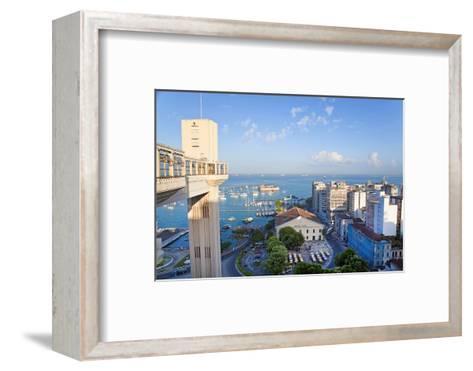 The Elevador Lacerda, Pelourinho, Salvador, Bahia, Brazil-Peter Adams-Framed Art Print