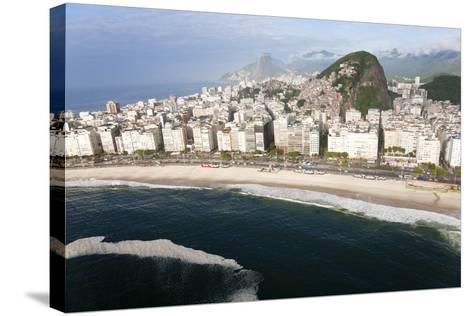 Copacabana Beach, Copacabana, Rio de Janeiro, Brazil-Peter Adams-Stretched Canvas Print
