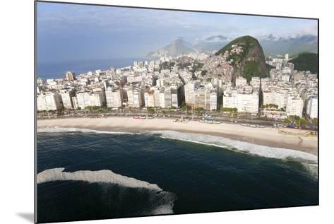 Copacabana Beach, Copacabana, Rio de Janeiro, Brazil-Peter Adams-Mounted Photographic Print