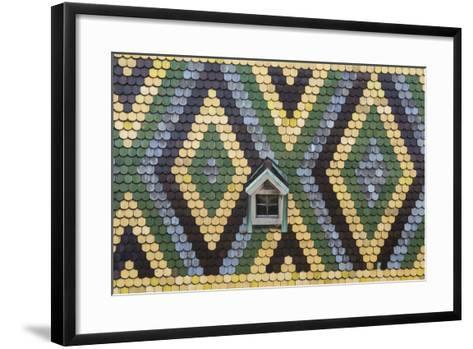 Roof and Window, St Stephens Cathedral, Vienna, Austria-Peter Adams-Framed Art Print