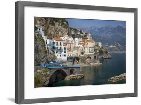 Seaside Town of Atrani Near Amalfi, Campania, Italy-Brian Jannsen-Framed Art Print