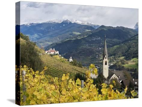Saeben Monastery and Abbey in Autumn. Alto Adige, South Tyrol, Italy-Martin Zwick-Stretched Canvas Print