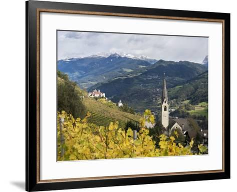 Saeben Monastery and Abbey in Autumn. Alto Adige, South Tyrol, Italy-Martin Zwick-Framed Art Print