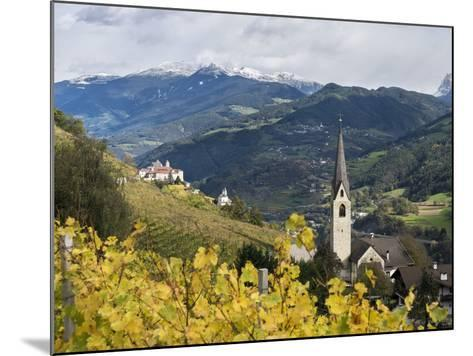 Saeben Monastery and Abbey in Autumn. Alto Adige, South Tyrol, Italy-Martin Zwick-Mounted Photographic Print