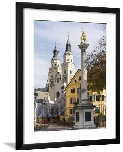 Brixen, View of the Cathedral. Central Europe, South Tyrol, Italy-Martin Zwick-Framed Art Print