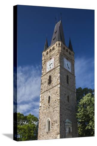 Romania, Maramures Region, Baia Mare, St. Stephan's Tower-Walter Bibikow-Stretched Canvas Print