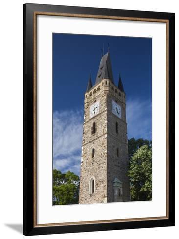 Romania, Maramures Region, Baia Mare, St. Stephan's Tower-Walter Bibikow-Framed Art Print