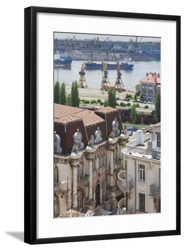 Romania, Black Sea Coast, Constanta, View of the Constanta Port-Walter Bibikow-Framed Art Print