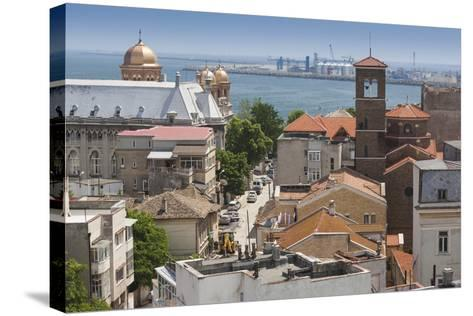 Romania, Black Sea Coast, Constanta, Elevated City View-Walter Bibikow-Stretched Canvas Print