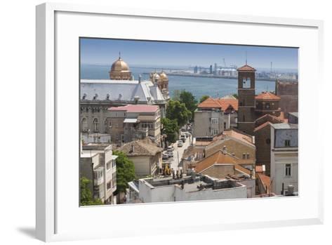 Romania, Black Sea Coast, Constanta, Elevated City View-Walter Bibikow-Framed Art Print