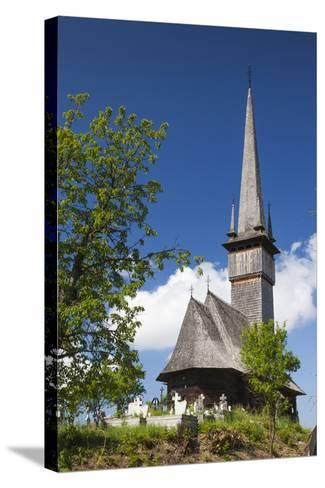 Romania, Maramures Region, Plopis, Greco-Catholic Wooden Church-Walter Bibikow-Stretched Canvas Print