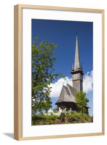 Romania, Maramures Region, Plopis, Greco-Catholic Wooden Church-Walter Bibikow-Framed Art Print