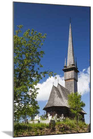 Romania, Maramures Region, Plopis, Greco-Catholic Wooden Church-Walter Bibikow-Mounted Photographic Print