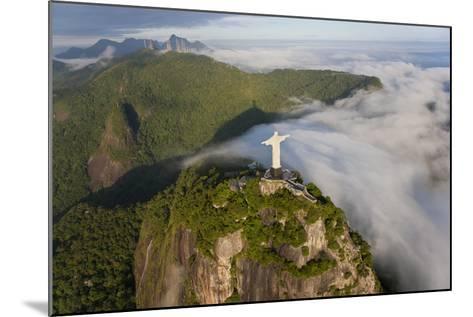 Art Deco Statue of Jesus,On Corcovado Mountain, Rio de Janeiro, Brazil-Peter Adams-Mounted Photographic Print
