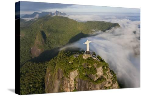 Art Deco Statue of Jesus,On Corcovado Mountain, Rio de Janeiro, Brazil-Peter Adams-Stretched Canvas Print