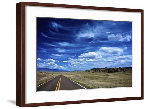 Highway 78, New Mexico, High Alpine Grasslands and Clouds-Richard Wright-Framed Art Print
