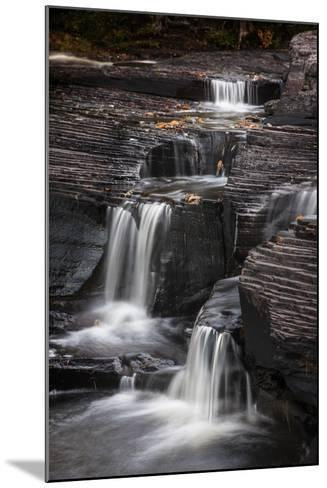 USA, Michigan, Upper Peninsula. Waterfalls in the Presque Isle River-Don Grall-Mounted Photographic Print