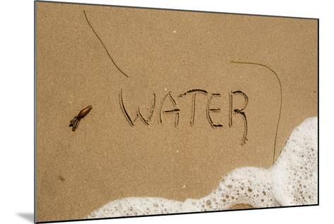 California, Santa Barbara Co, Jalama Beach, Water Written in Sand-Alison Jones-Mounted Photographic Print