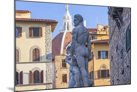 Statue of Neptune, Piazza Della Signora, Florence, Italy-Peter Adams-Mounted Photographic Print