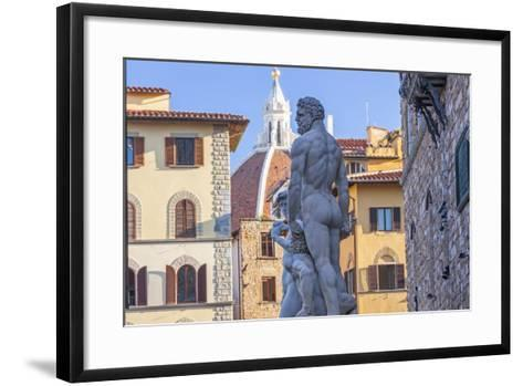Statue of Neptune, Piazza Della Signora, Florence, Italy-Peter Adams-Framed Art Print