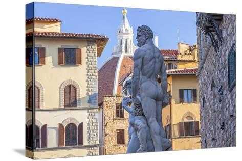 Statue of Neptune, Piazza Della Signora, Florence, Italy-Peter Adams-Stretched Canvas Print